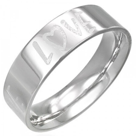 LOVE ring voor dames - Graveer Ring SKU13505