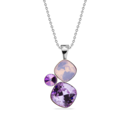 Spark Jewelry Ketting met Paarse Glaskristallen Hanger