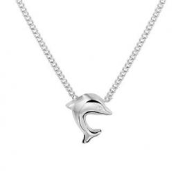 Zilveren Dolfijn Hanger Collier