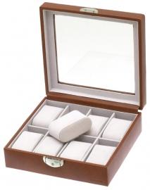 Horlogebox voor 8 horloges / Cognac