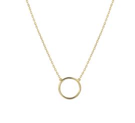 Anker Collier van Geelgoud met Opengewerkte Cirkel Hanger