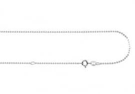 Zilveren Bolletjes Ketting Names4ever 45-50 cm