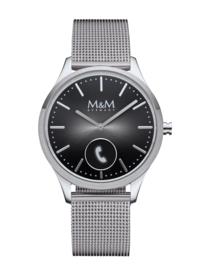 Zilverkleurig M&M Unisex Hybrid Horloge met Milanese Horlogeband