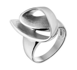 Slanke Gescratchte Kronkelende Dames Ring