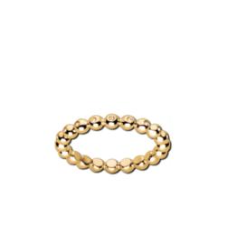 Goudkleurige Bolletjes Ring met Zirkonia's van M&M