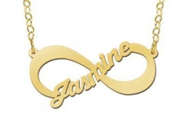 Names4ever Vergulde Jasmine Naamketting