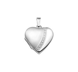 Zilveren Hartvormig Medaillon met Decoratie