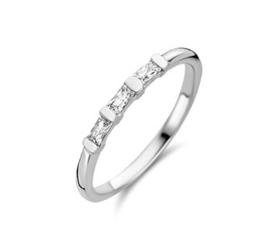 Schitterende Zilveren Dames Ring met Zirkonia