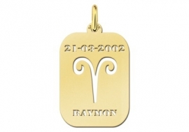Names4ever Astrologie Ram Goud Hanger in Goud GHS001
