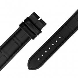 MY iMenso Quartz Zwart leren Horlogeband
