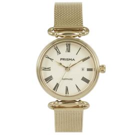 Klassiek Goudkleurig Dames Horloge met Goudkleurig Milanese Horlogeband