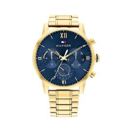 Tommy Hilfiger Sullivan Goudkleurig Heren Horloge / Blauwe Wijzerplaat
