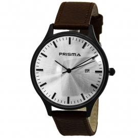 Prisma Heren Horloge 1627.400F Bruin Lederen Band