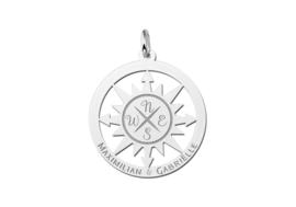 Kompas Naamhanger van Zilver   Names4ever