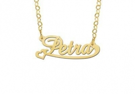 Names4ever Vergulde Petra Naamketting
