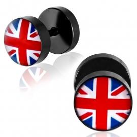Engelse Vlag Imitatie Piercing Oorbel