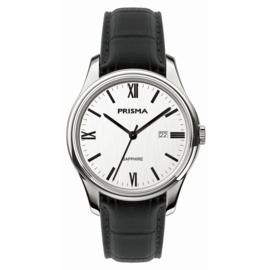 Prisma Alfa Heren Horloge met Zwarte Band