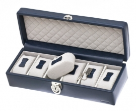 Horlogebox voor 6 horloges / Navy 37890603