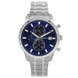 Titanium Chrono Heren Horloge met Blauwe Wijzerplaat van Prisma