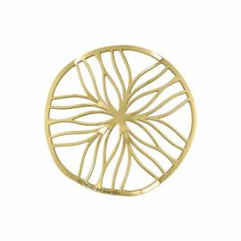 Goudkleurige Line Flower 33mm Insignia van MY iMenso