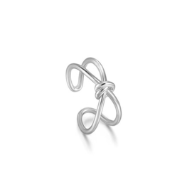Ania Haie Forget me Knot X-Ring van Zilver