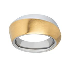Stevige Bicolor Ring van Edelstaal van M&M