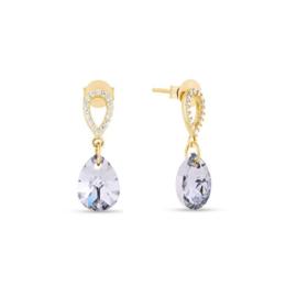 Spark Pear Drop Gilded Earrings Crystal