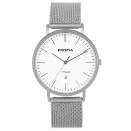 Zilverkleurig Heren Horloge met Milanese Horlogeband van Prisma