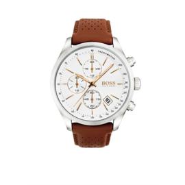 Hugo Boss Horloge Grand Prix Zilverkleurig Horloge met Witte Wijzerplaat van Boss