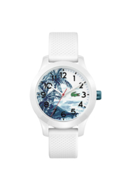 Speels Lacoste Wit Kids Horloge met Decoratieve Wijzerplaat