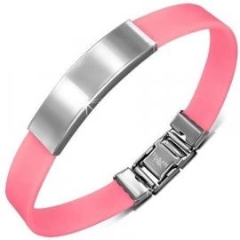 Roze graveer armband/ Armband inkorten mogelijk