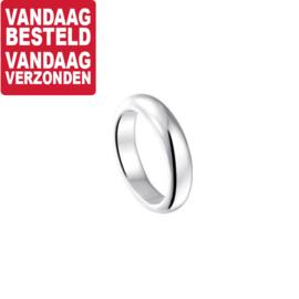Brede Bolle Egaal Ring van Zilver / Maat 18