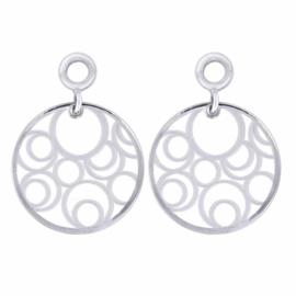 Zilveren Creoli Hangers met Fantasy Circles van MY iMenso