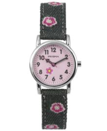 Prisma Kids Horloge met Grijze Denim Horlogeband