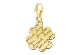 Names4ever Charm-Klaverbedel met Naampatroon GNB18