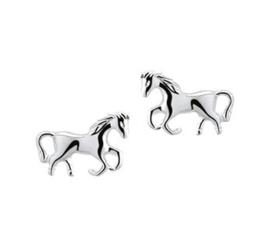 Verfijnde Paarden Oorknoppen van Zilver