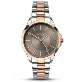 Roségoud- met Zilverkleurig Dames Sekonda Horloge met Grijze Wijzerplaat