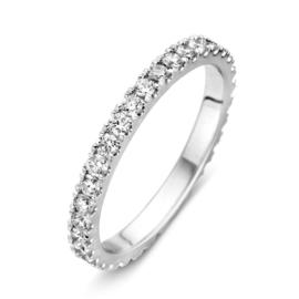 Excellent Jewelry Slanke Witgouden Ring met Briljanten 0,76 crt.