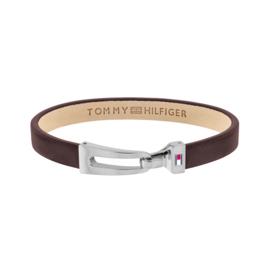 Tommy Hilfiger Bruin Lederen Armband met Edelstalen Sluiting TJ2790053