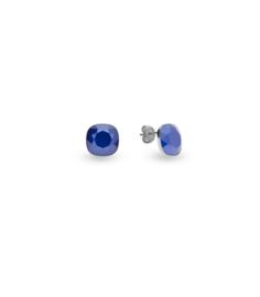 Oorbellen van Spark Jewelry met Royal Blue Swarovski Kristal