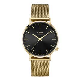 Goudkleurig KANE Horloge met Goudkleurige Milanese Horlogeband