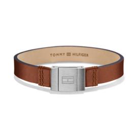 Tommy Hilfiger Brede Bruine Lederen Heren Armband TJ2700949