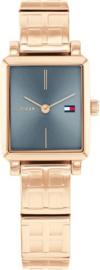 Tommy Hilfiger Roségoudkleurig Dames Horloge met Rechthoekige Kast