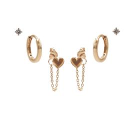 Karma Jewelry – Zesdelige Love Love Earparty Set - Rosé