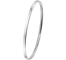 Slanke Bangle armband voor Dames van Zilver