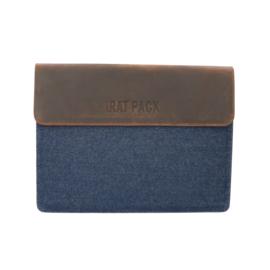 The Rat Pack Laptop Sleeve 13'' met Bruine Kleur en Jeans OF 679 – 13 inch