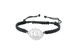 Zilveren Moeder-Dochter Shamballa Armband   Names4ever