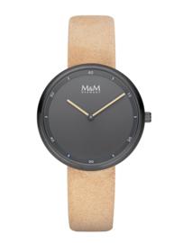M&M Horloge met Zwarte Kast en Zwarte Wijzerplaat