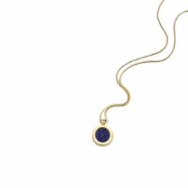 Gouden Medaillon met Blue Sand Insignia en Ketting van MY iMenso Gold
