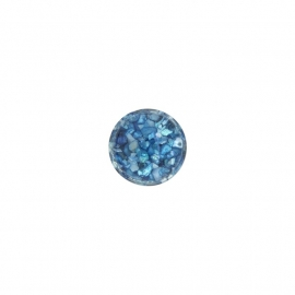 Blue in Resin Insignia Munt van 14mm